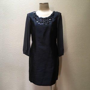 Boden Dress Silk Shift Sequin Holiday Chiffon